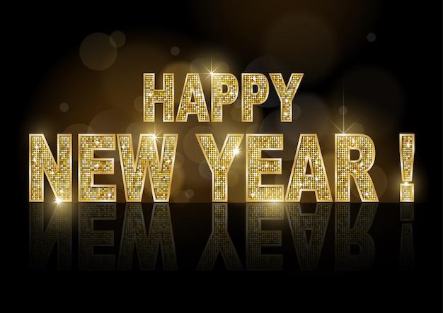 Złoty szczęśliwego nowego roku
