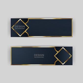 Złoty sztandar złoty luksusowy jasny kolor tła tło