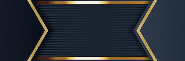 Złoty sztandar złoty luksusowy jasny kolor tła