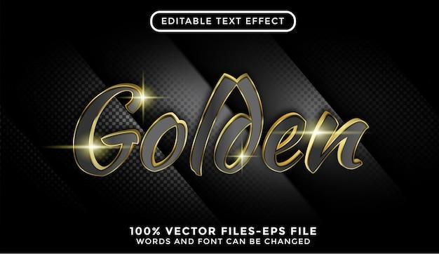 Złoty tekst 3d. edytowalne wektory premium z efektem tekstowym