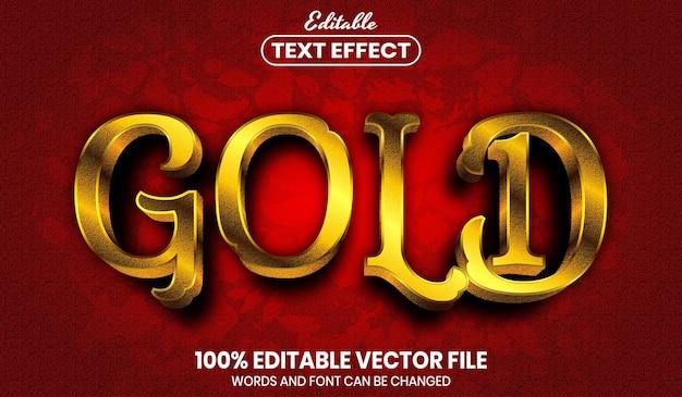 Złoty tekst, edytowalny efekt tekstu w stylu czcionki font