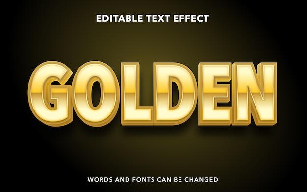 Złoty tekst edytowalny styl efektu tekstu