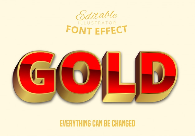 Złoty tekst, edytowalny styl tekstu
