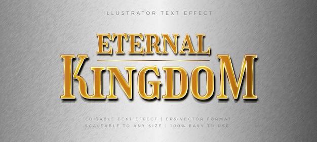 Złoty tytuł gry styl tekstu efekt czcionki