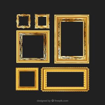 Złoty vintage frames