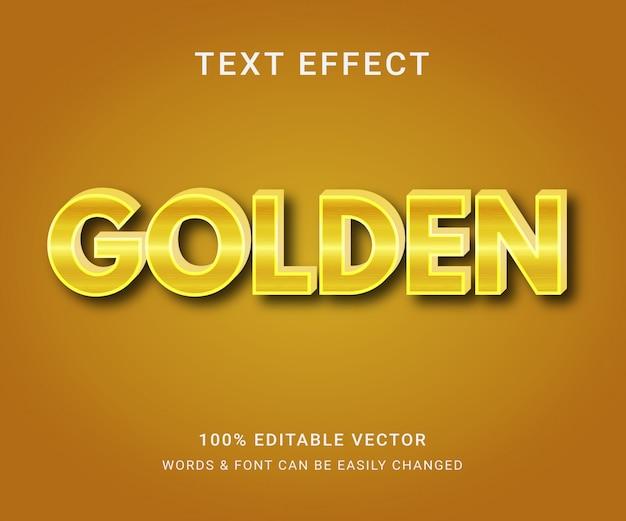 Złoty w pełni edytowalny efekt tekstowy
