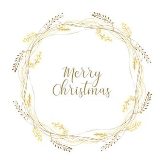 Złoty wieniec świąteczny