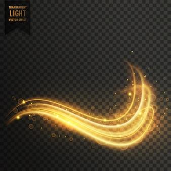 Złoty wirowa magia efekt świetlny wektor