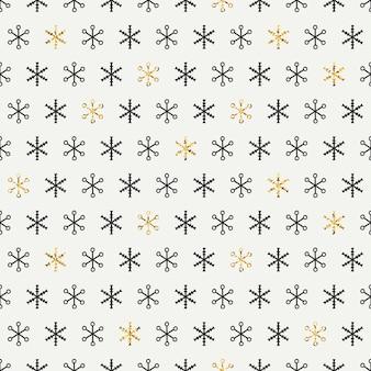 Złoty wzór płatki śniegu.