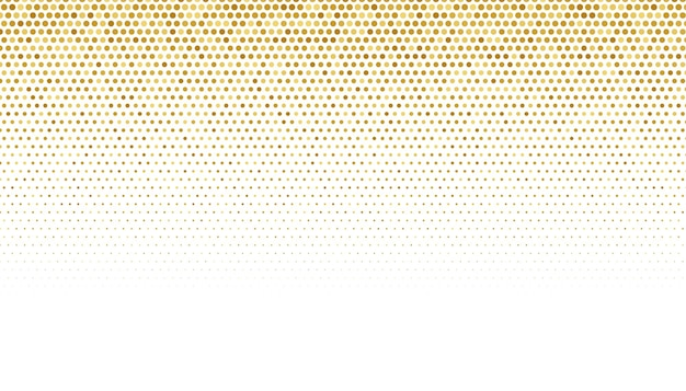Złoty wzór półtonów na białym tle