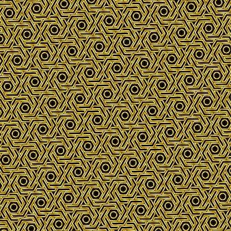 Złoty wzór sześciokąta