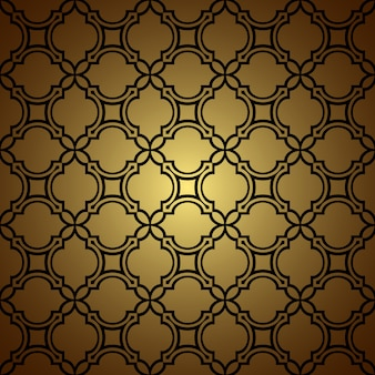 Złoty wzór tła w stylu orientalnym