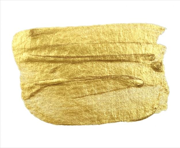 Złoty wzór z błyszczącymi, jasnymi drobinami. element projektu artystycznego obrysu pędzla.