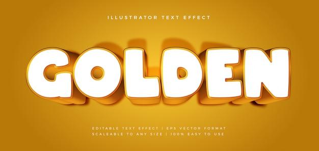 Złoty zabawny efekt czcionki w stylu tekstu