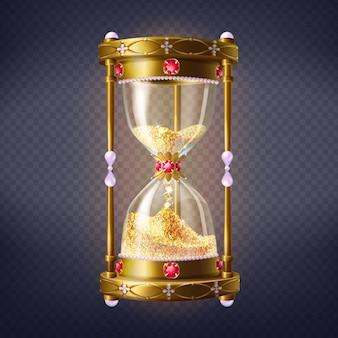 Złoty zegar z piaskiem