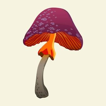 Złowieszcze trujące grzyby. ręcznie rysowane wektor ilustracja na białym tle.