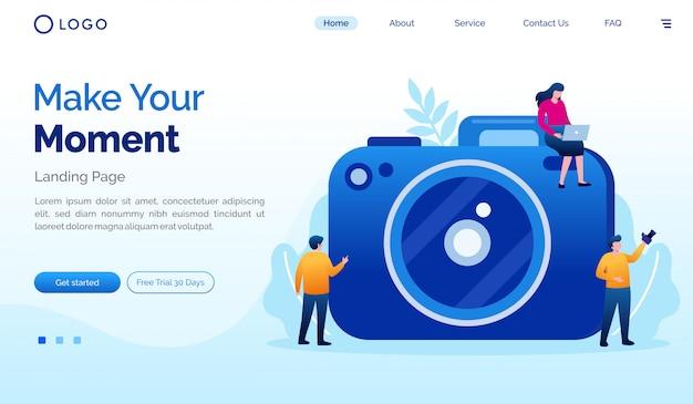 Złóż swój moment docelowy płaski szablon strony internetowej