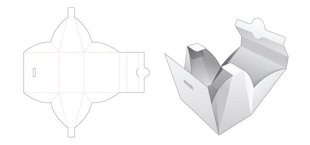 Złożona torebka z wykrojonym szablonem