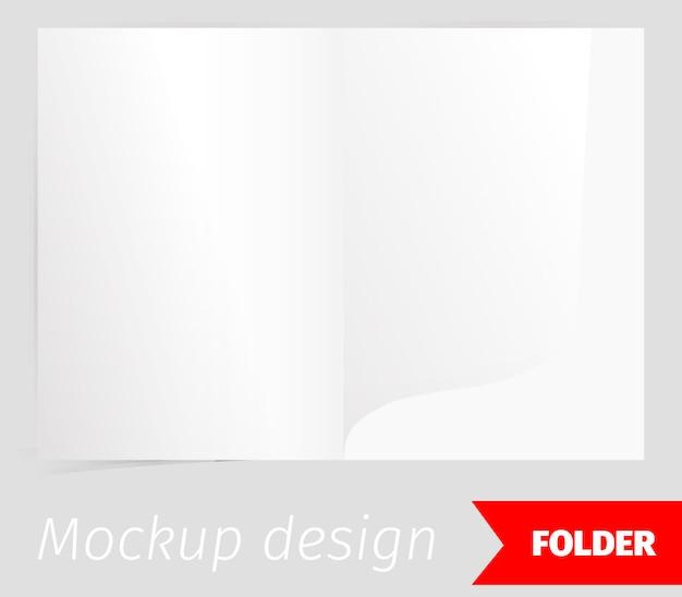 Złożyć realistyczny makieta projektu z efektem cienia