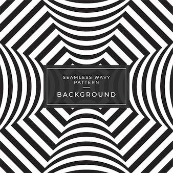 Złudzenie optyczne abstrakcyjne linie tła plakat facebook geometryczne czarno-białe linie wzór eps10