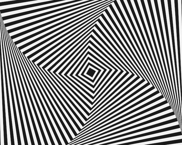 Złudzenie optyczne abstrakcyjnego tła z falistym wzorem ciemno szare białe paski wirować
