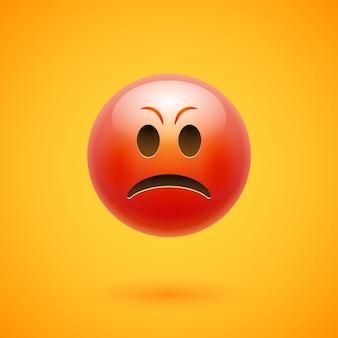 Zły emotikon emoji gniew twarzy.