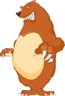 Zły kreskówka niedźwiedź