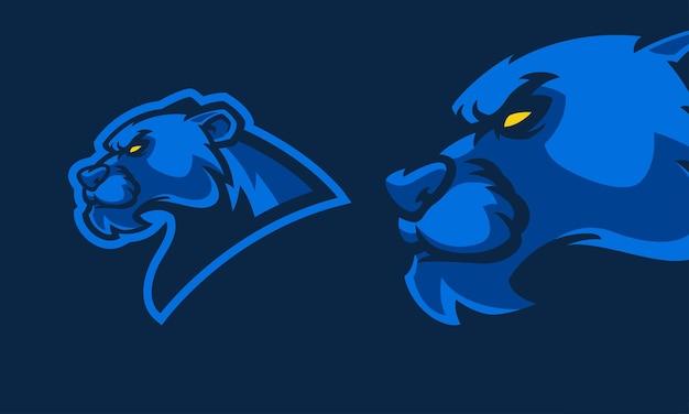 Zły pantera głowa maskotka ilustracja wektorowa