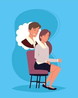 Zmartwiony nękanie kobiet w miejscu pracy