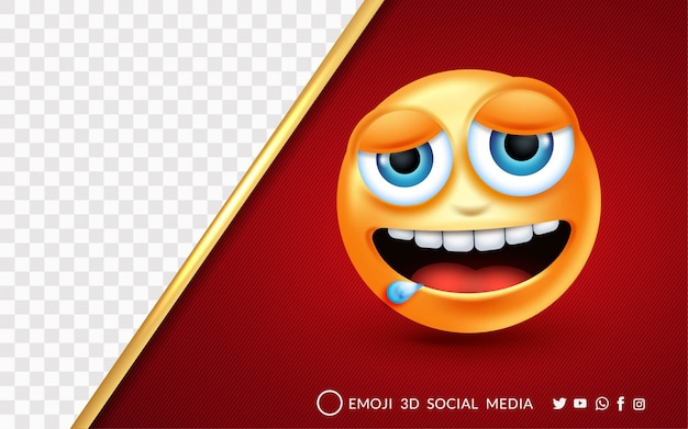 Zmęczony i senny emoji wyraz twarzy