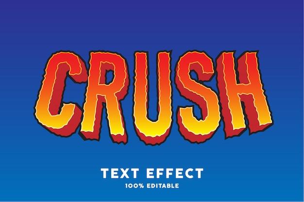 Zmiażdżyć efekt stylu tekstu gry
