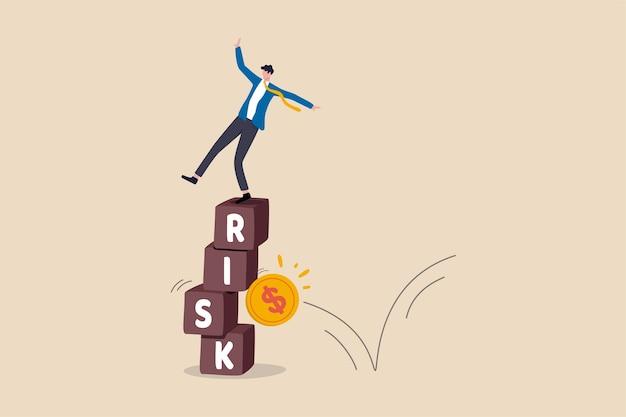 Zmienność ryzyka inwestycyjnego i wahania na rynku akcji, że cena spadnie koncepcja stabilności i niepewności