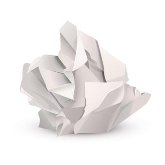Zmięta papierowa kulka