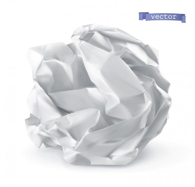 Zmięta papierowa piłka