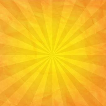 Zmięty żółty papier z sunburst