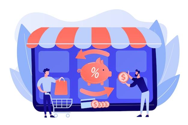 Zmniejszający koszta. płatność online. transfer pieniędzy. oszczędności finansowe