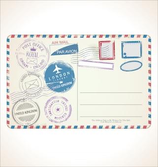 Znaczek pocztowy i pocztówka