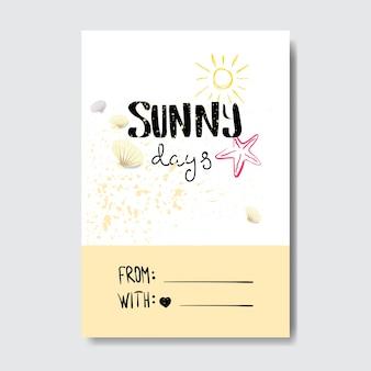 Znaczek słoneczny dzień