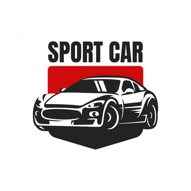 Znaczek z logo samochodu sportowego