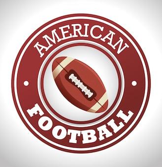 Znaczek z logo sportu futbolu amerykańskiego