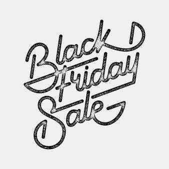 Znaczek z napisem sprzedaż w czarny piątek