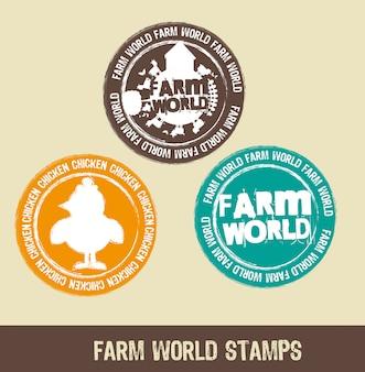 Znaczki farmy