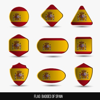 Znaczki flagi hiszpanii