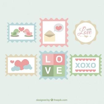 Znaczki miłość