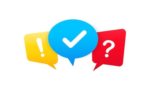 Znacznik wyboru, znak zapytania i wykrzyknik