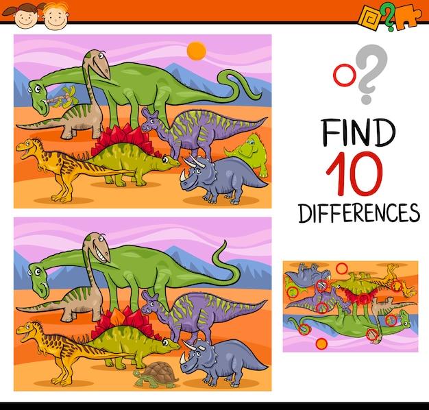 Znajdowanie różnic w grze z kreskówek