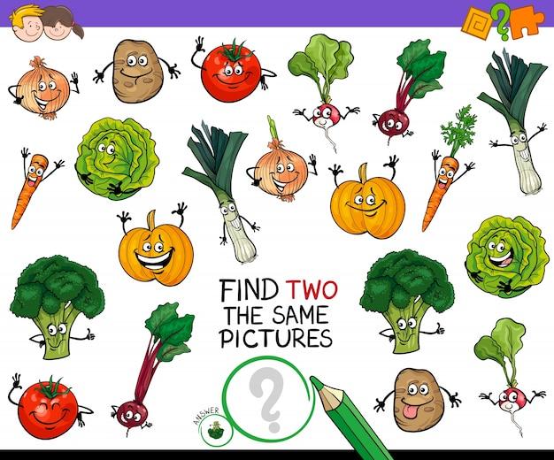 Znajdź dwie takie same gry z warzywami