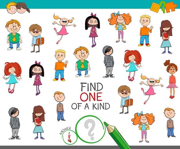 Znajdź jedyną w swoim rodzaju grę z dzieciakami
