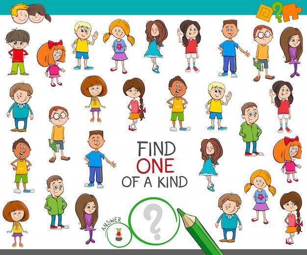 Znajdź jedyną w swoim rodzaju grę z postaciami dla dzieci