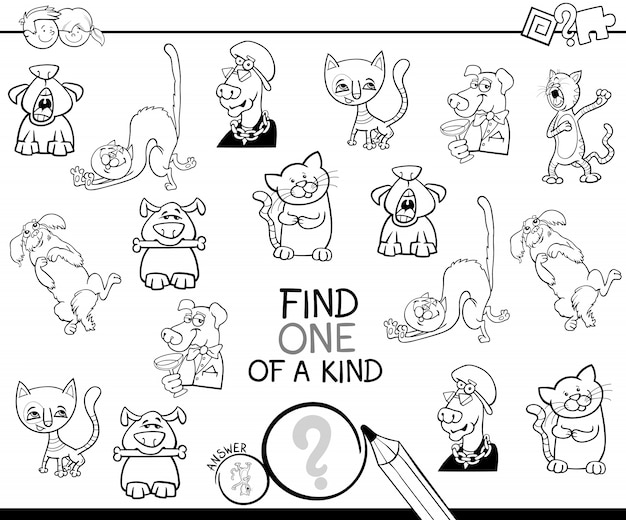 Znajdź jedyną w swoim rodzaju kolorowankę do gry